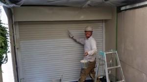 平松塗装店外壁塗装シャッター