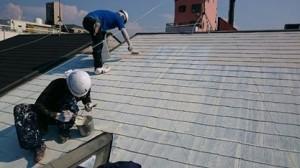 平松塗装店屋根塗装2名