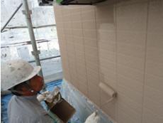 東明外壁塗装ローラー