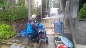平松塗装店外壁高圧洗浄