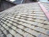 屋根塗膜剥がれ