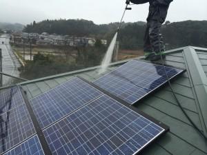 光和建装屋根塗装太陽光パネル