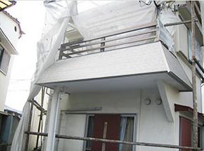 北畠工務店外壁塗装足場