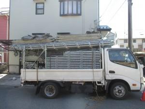 ハウスメイク足場トラック