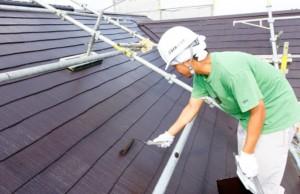 マイホームケア屋根塗装風景