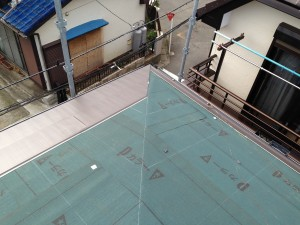 屋根カバー工法ルーフィング