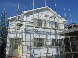 新潟ペイント工業塗装作業中