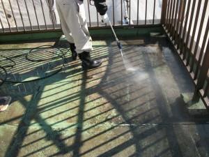 屋上防水高圧洗浄