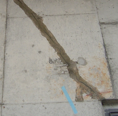 鉄筋コンクリートのクラック補修