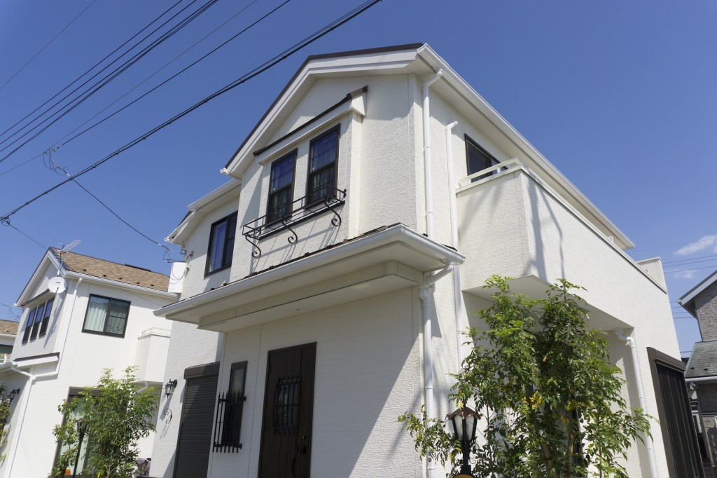 外壁塗装した住宅