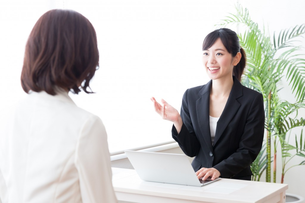 portrait of asian businesswomen working in the office