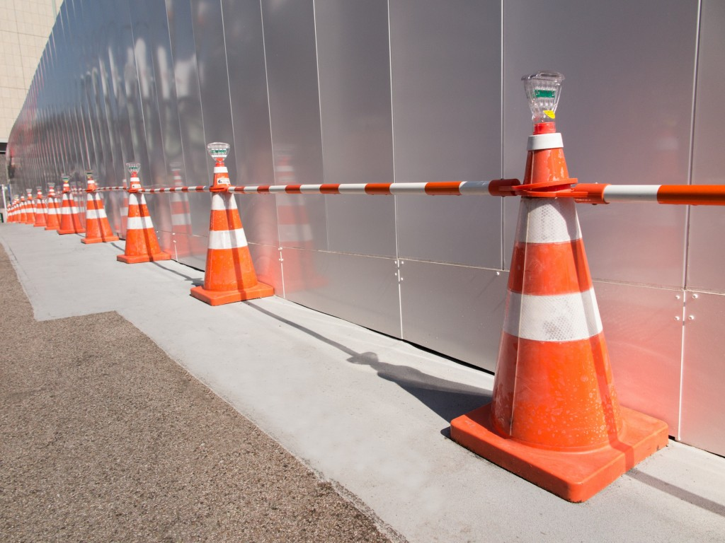 マンション工事防護柵