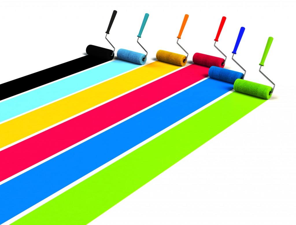 色んな色の塗料