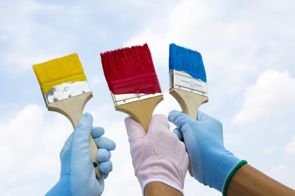 2色以上の塗装