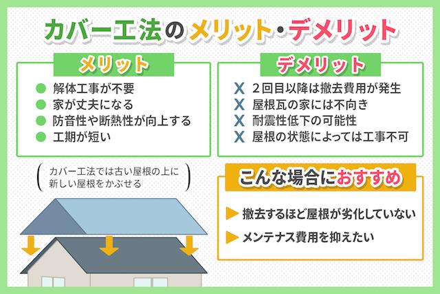 カバー工法のメリット・デメリット
